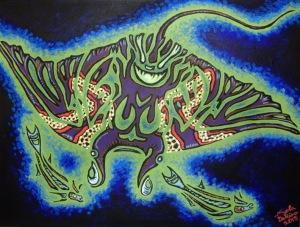 Manta Ray & Remora Fish 12