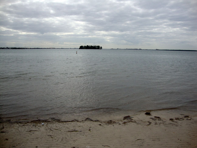 A little island offshore.