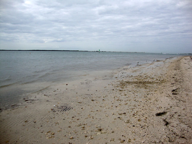 Down toward the very end of the beach is the entrance to Honeymoon Island.