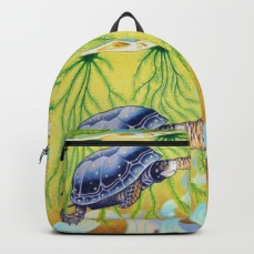 swimming-spotted-turtle-turtle-art-backpacks