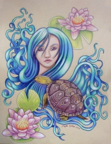 colored pencil drawing sketch turtle reptile